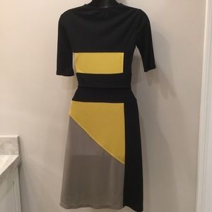 BCBGMaxAzria Dresses - BCBG MaxAzria Color Block Dress XS